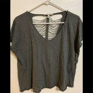 Express one eleven ripped back t shirt